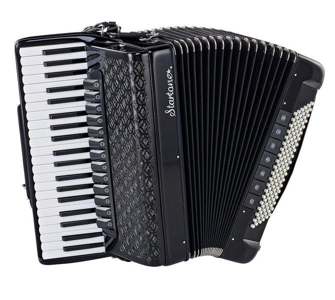 Startone Piano Accordion 120 IV Black
