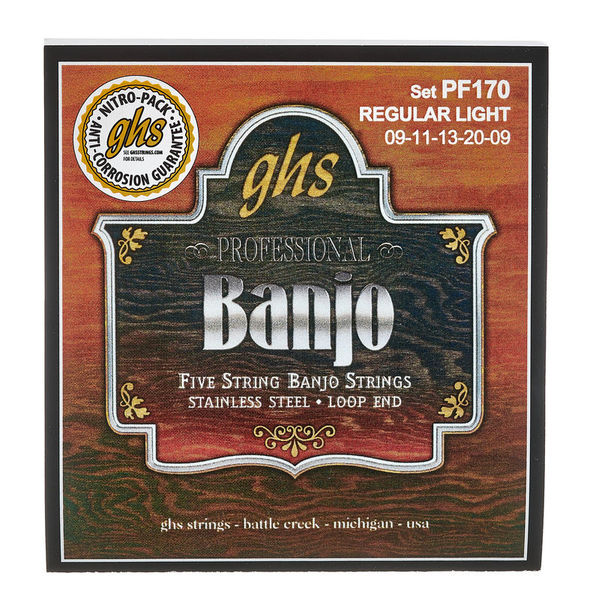 GHS PF170 5-String Banjo Set