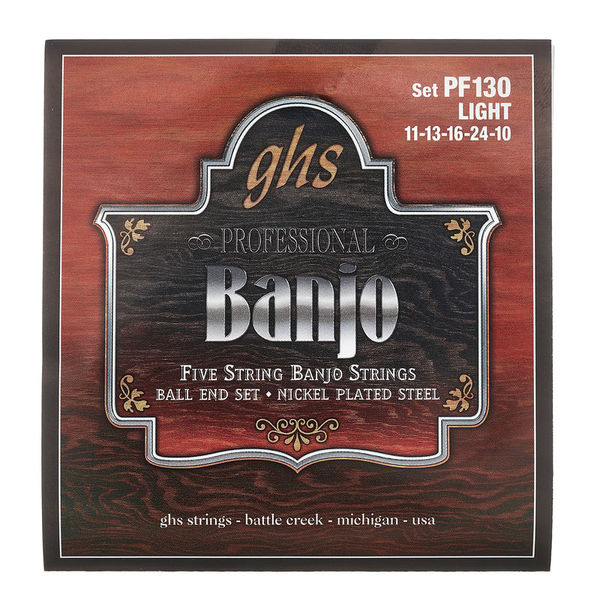 GHS PF130 5-String Banjo Set