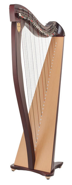 Lyon & Healy Drake LT Lever Harp Mahogany