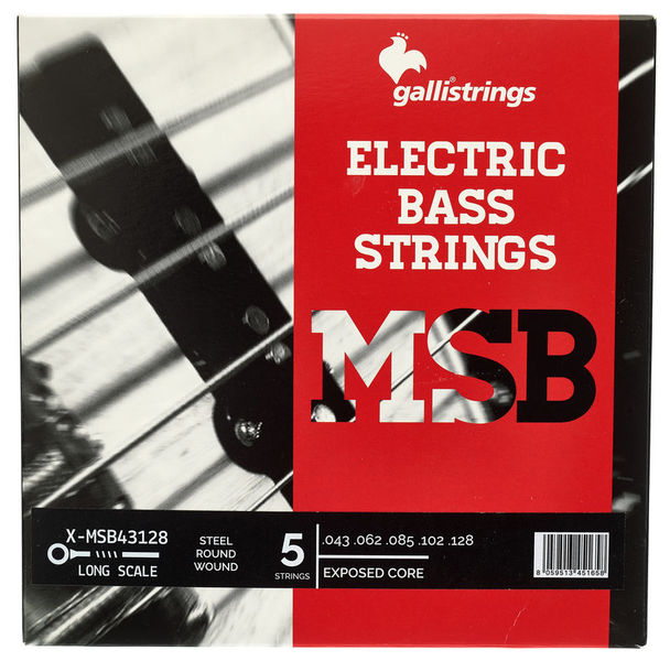 ECS5 Exposed Core Bass Str. Galli Strings