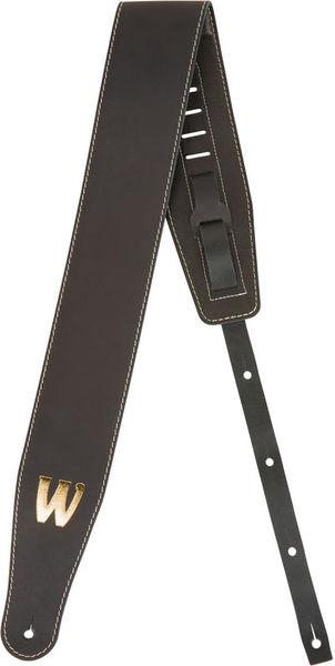 Warwick Teambuilt Leather Strap BK BG