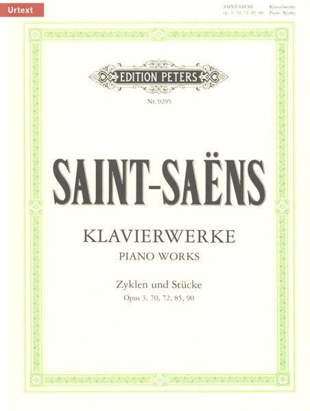 Saint-Saens Klavierwerke Edition Peters