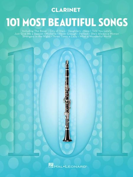 101 Beautiful Songs Clarinet Hal Leonard