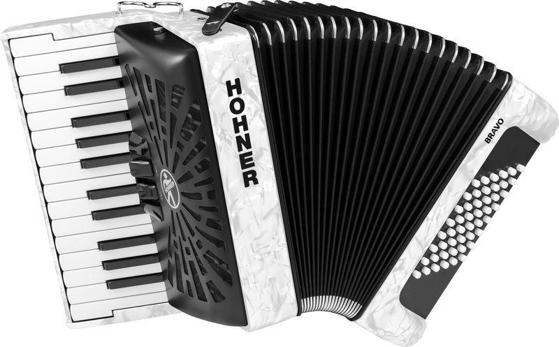 Hohner Bravo II 48 White silent key