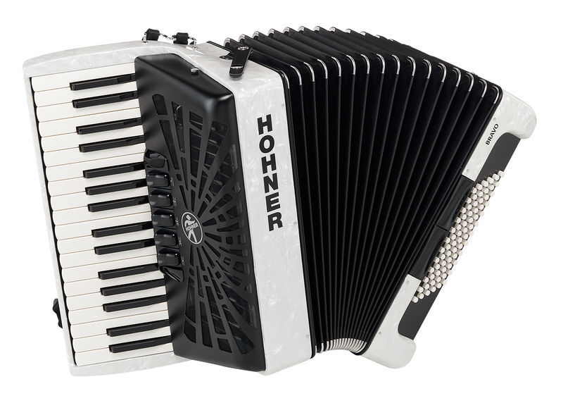 Hohner Bravo III 72 White silent key