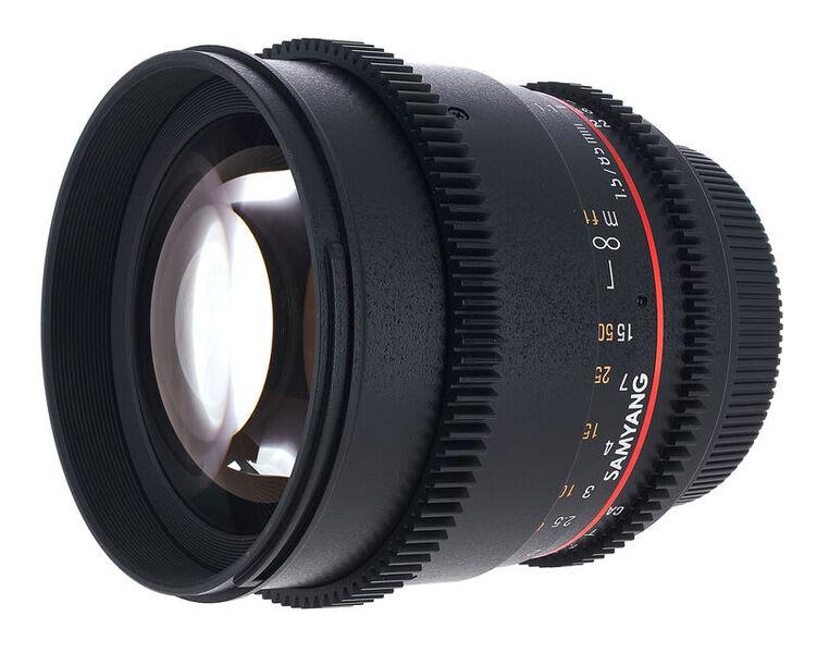 Samyang MF 85mm T1,5 Video DSLR II EF