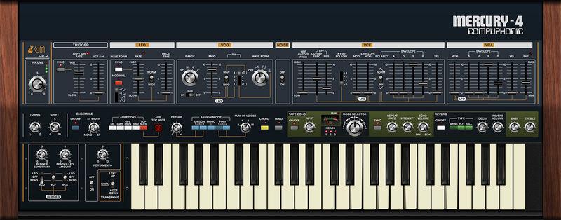 Cherry Audio Mercury-4 Synthesizer
