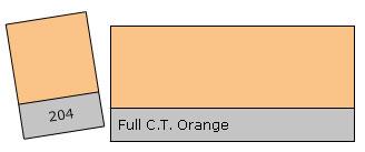 Lee Colour Filter 204 F.C.T.Orange