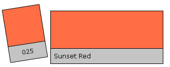 Lee Colour Filter 025 Sunset Red