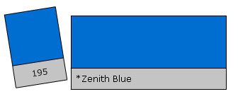 Lee Colour Filter 195 Zenith Blue