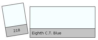 Lee Colour Filter 218 E.C.T. Blue