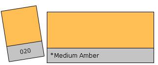Lee Filter Roll 020 Medium Amber