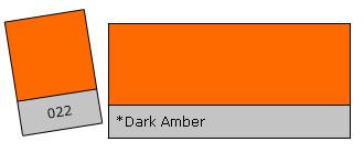Lee Filter Roll 022 Dark Amber