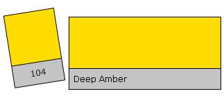 Lee Filter Roll 104 Deep Amber