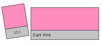 Lee Filter Roll 111 Dark Pink