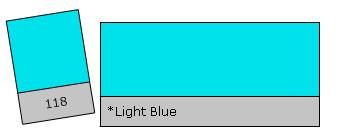 Lee Filter Roll 118 Light Blue