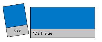 Lee Filter Roll 119 Dark Blue
