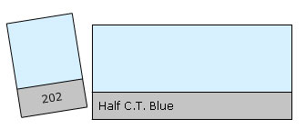 Lee Filter Roll 202 Half C.T. Blue