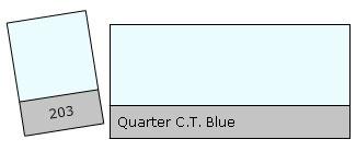 Lee Filter Roll 203 Qu. C.T. Blue
