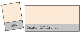 Lee Filter Roll 206 Q.C.T. Orange
