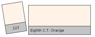 Lee Filter Roll 223 8th C.T.Orange