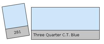 Lee Filter Roll 281 3 Qu.C.T.Blue