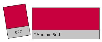 Lee Filter Roll 027 Medium Red
