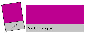 Lee Filter Roll 049 Medium Purple