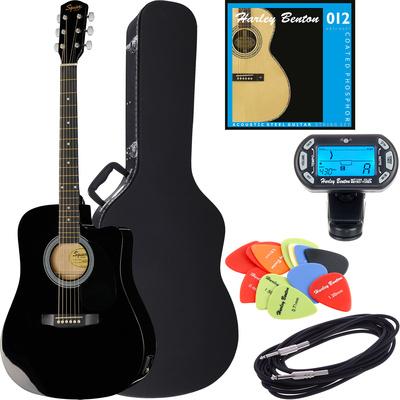 Fender Squier SA-105CE BK Bundle