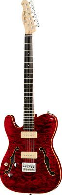 Harley Benton TE-90QM LH Trans Red