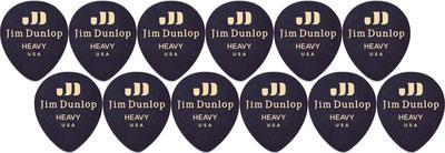 Dunlop Celluloid Teardrop Heavy BK
