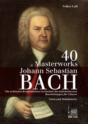 Acoustic Music Books 40 Masterworks J.S.Bach