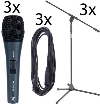 Sennheiser E835 S 3Pack Bundle