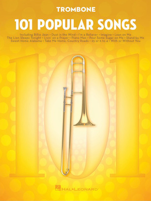 Hal Leonard 101 Popular Songs Trombone