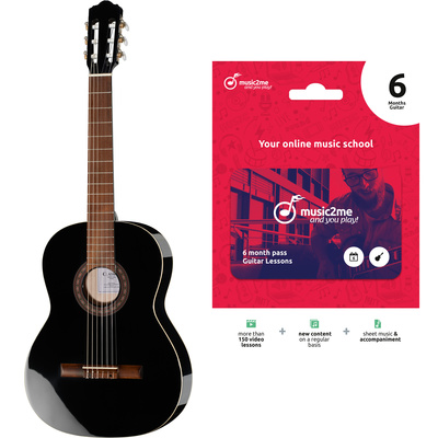 Thomann Class. 4/4 Guitar Black Bundle