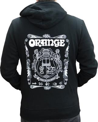 Orange Hoody Logo Black XL