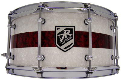 """DR Customs 14""""x6,5"""" White / Red Pearls"""