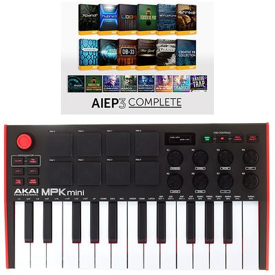 Clavier Maître 25 Touches Akai Professional Mpk Mini Mk3 Aiep3 Bundle Prix Test Et Avis Clavier Midi