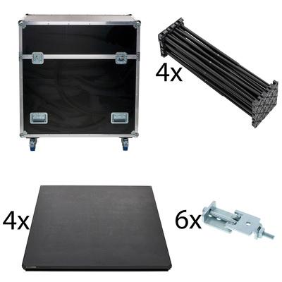Stairville iX Stage 4x 1x1 40cm w. Case
