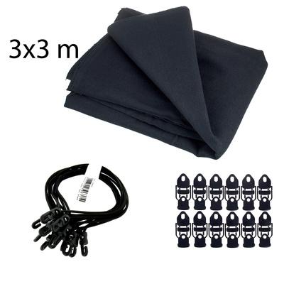 Stairville Euro Molton Set Black 3x3m