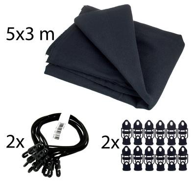 Stairville Euro Molton Set Black 5x3m