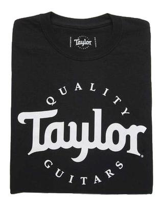 Taylor Basic Black Aged Logo Tshirt M