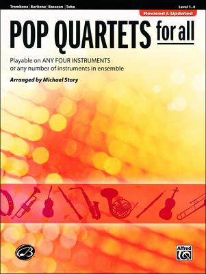Alfred Music Publishing Pop Quartets For All Trombone