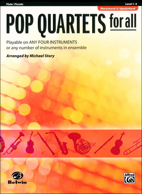 Alfred Music Publishing Pop Quartets For All Flute