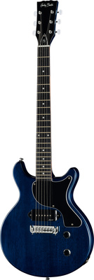 Harley Benton DC-Junior Faded Blue