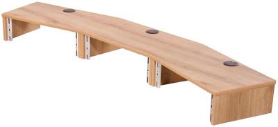 Thon Studio Ext. Desk 3U oak curved
