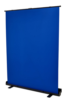 Stairville Blue Screen Roll-Up 1.5x2m
