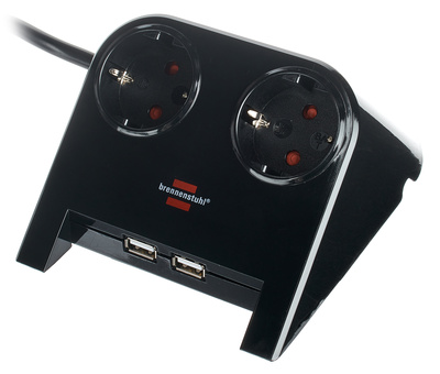 Brennenstuhl Desktop-Power Split 2 Way BK