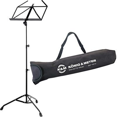 K&M 107 Music Stand Black Set